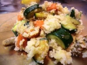Couscous miz Zucchini + Pilzen